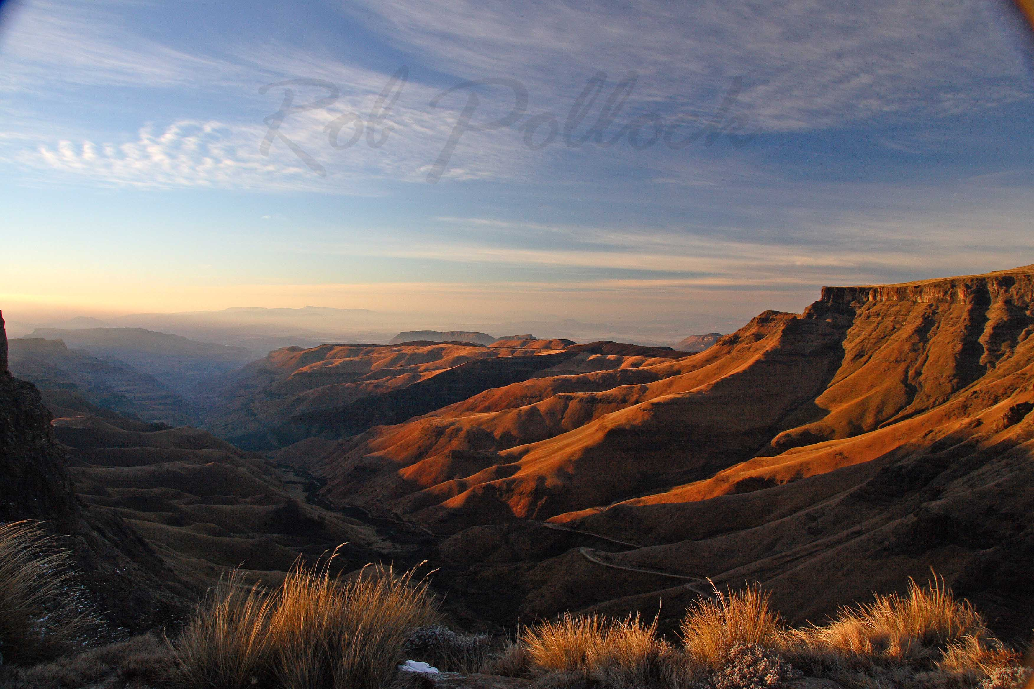 Sani Pass from Lesotho at dawn