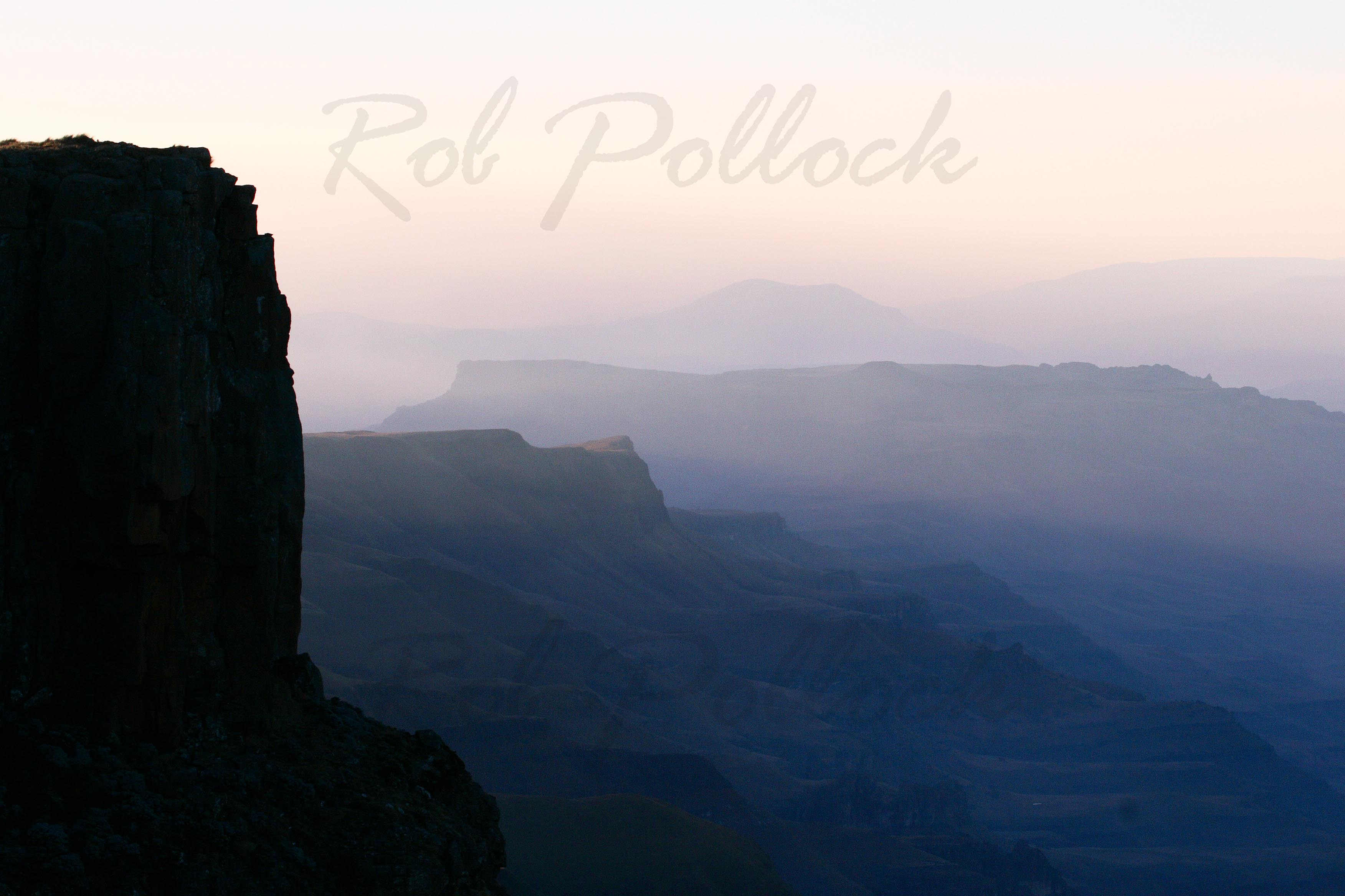 Drakensburg at dawn